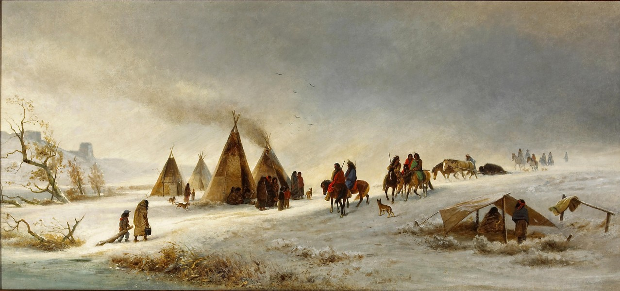 William Hahn - Indians in the snow