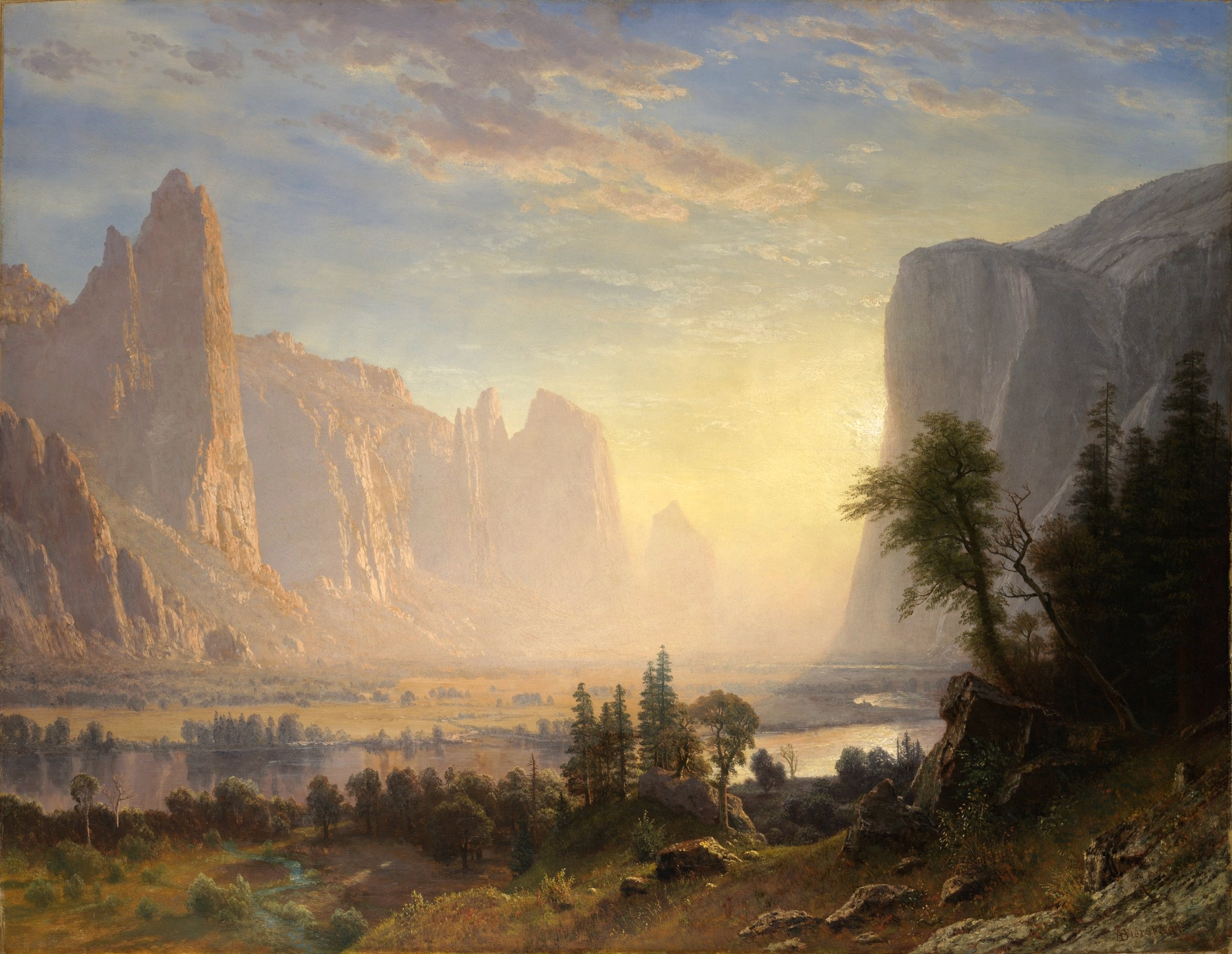 Valley of the Yosemite by Albert Bierstadt 1868