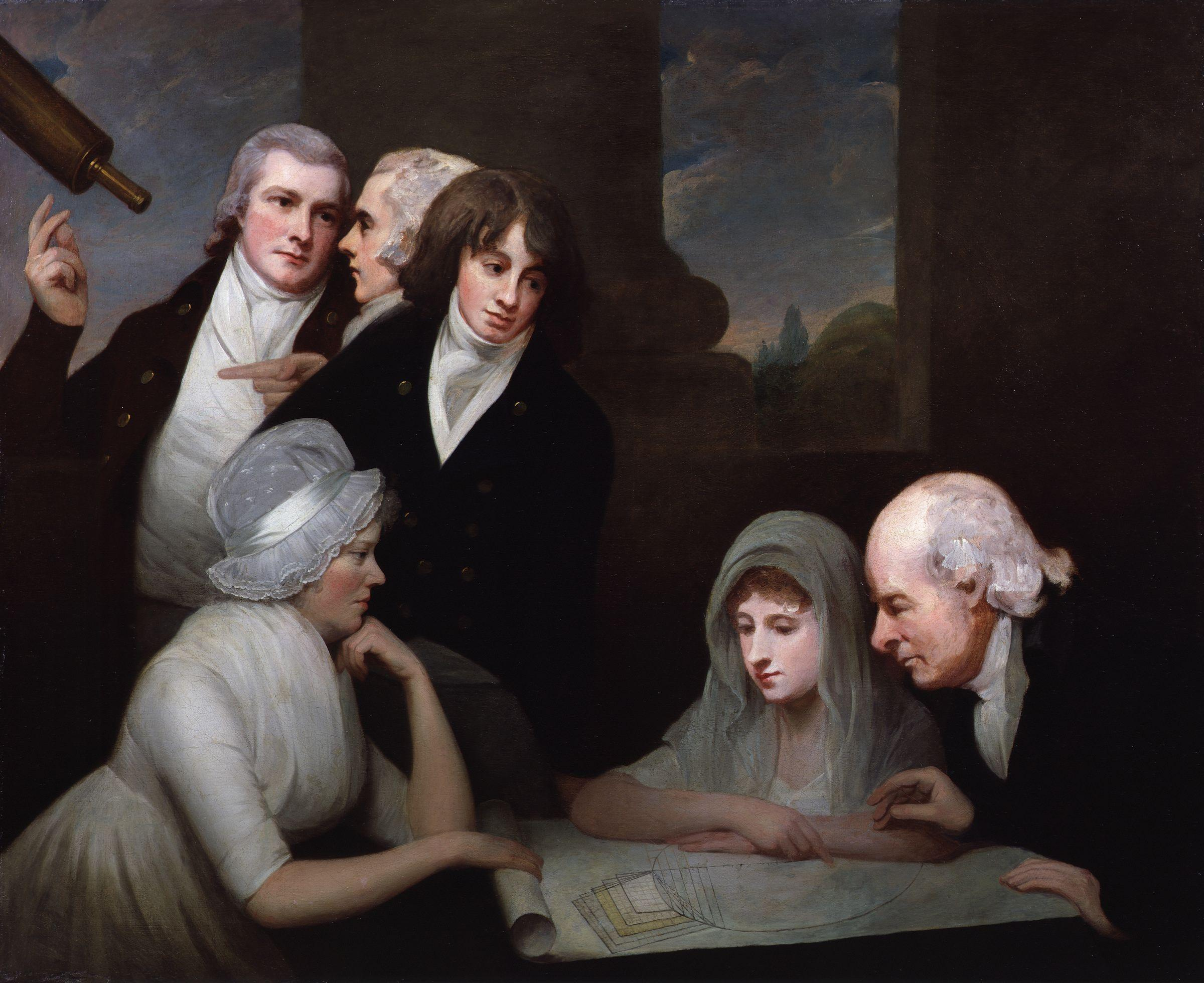 Adam Walker and his family by George Romney