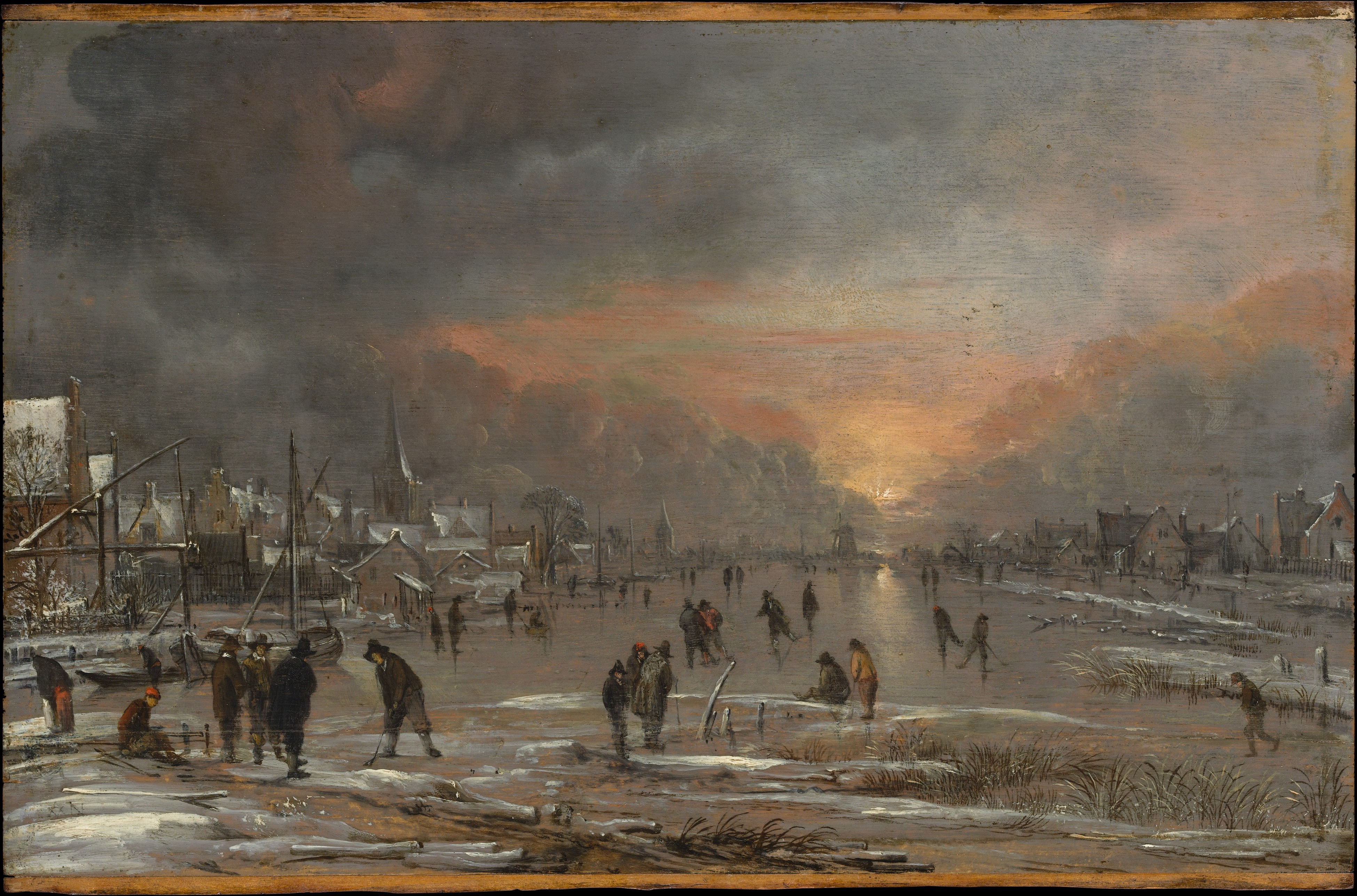 Aert van der Neer - Sports on a Frozen River - WGA16493
