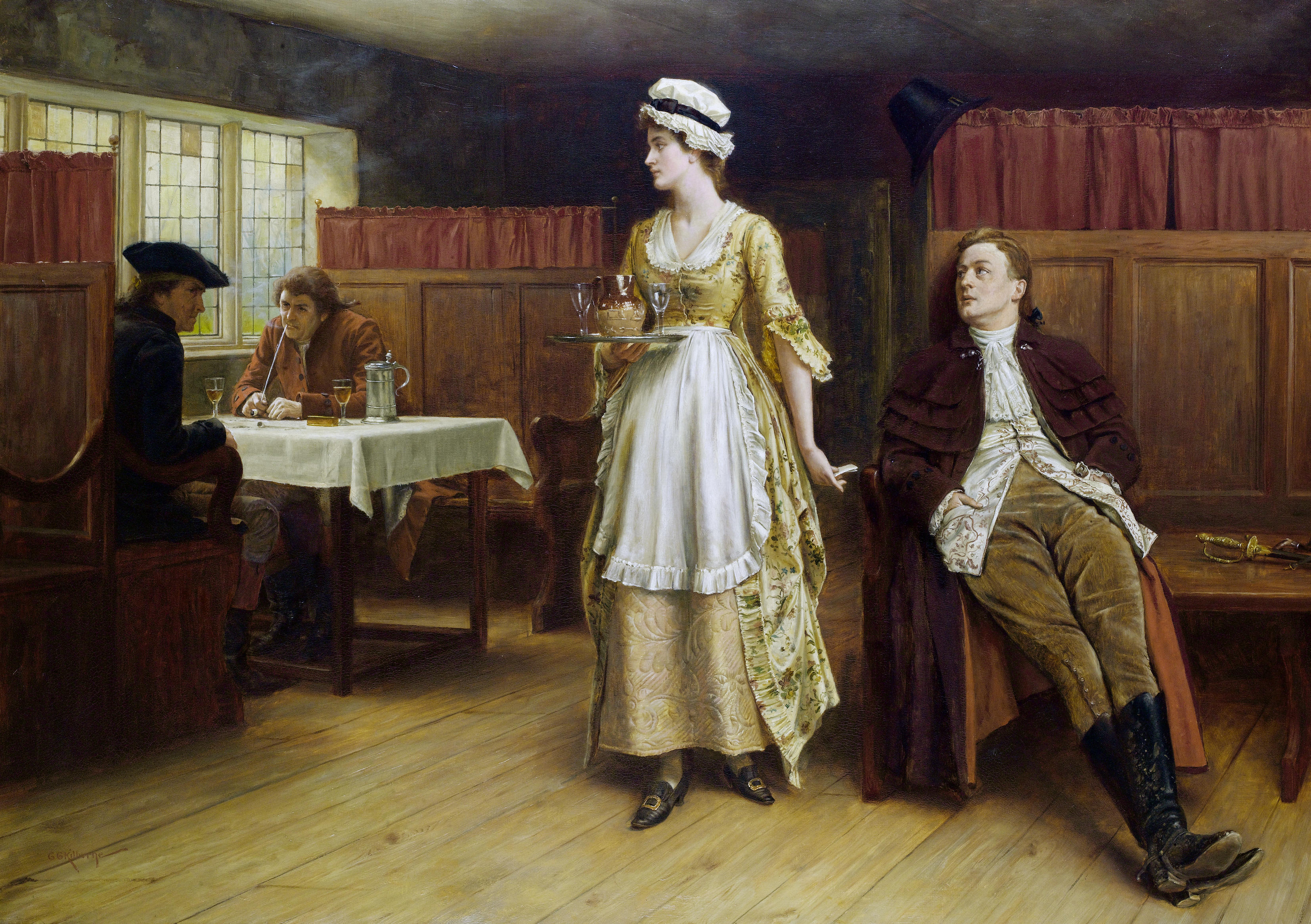 George Goodwin Kilburne Forewarned is forearmed
