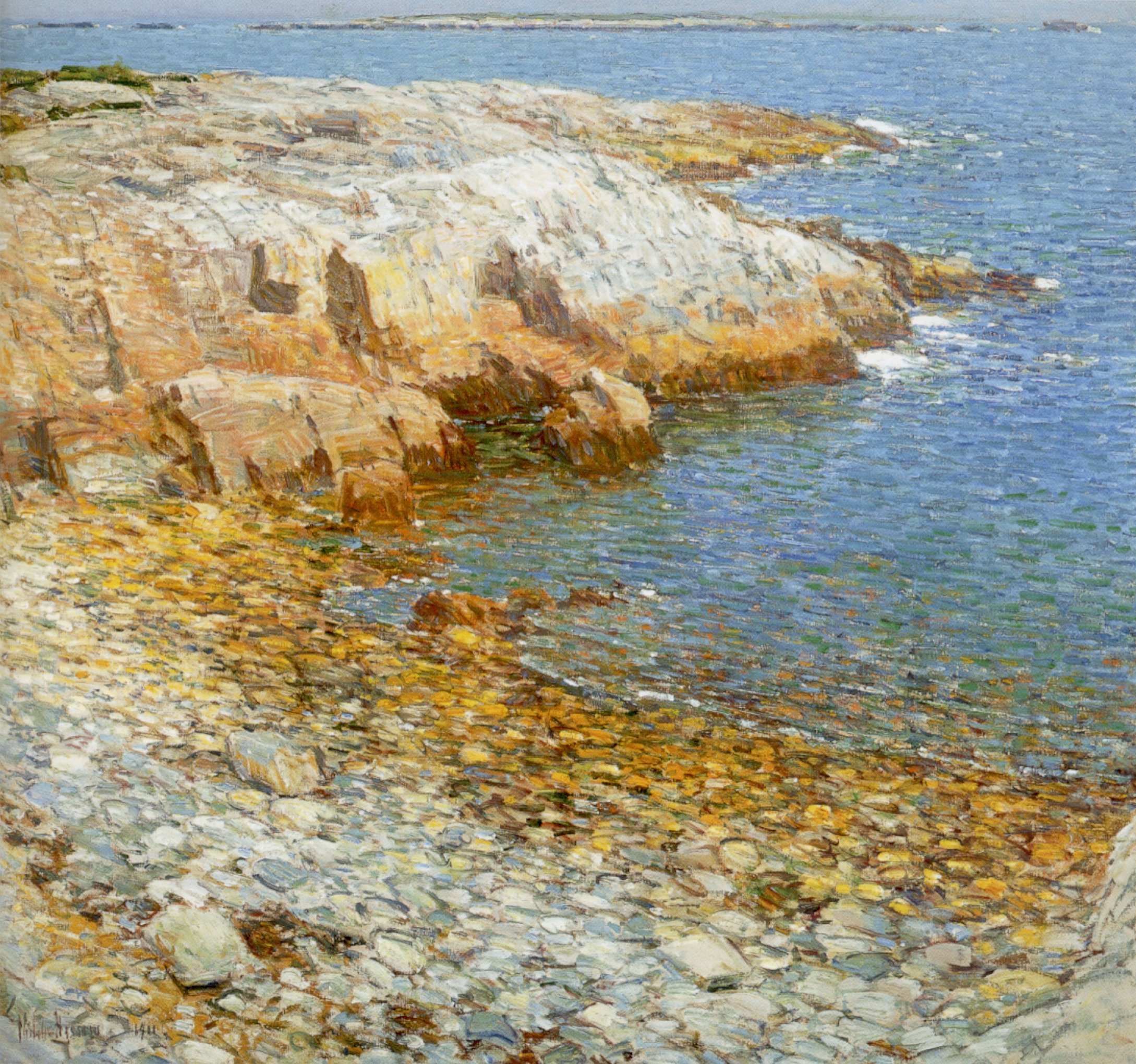 Hassam - 'Isles of Shoals, Broad Cove', oil on canvas painting by Childe Hassam, 1911