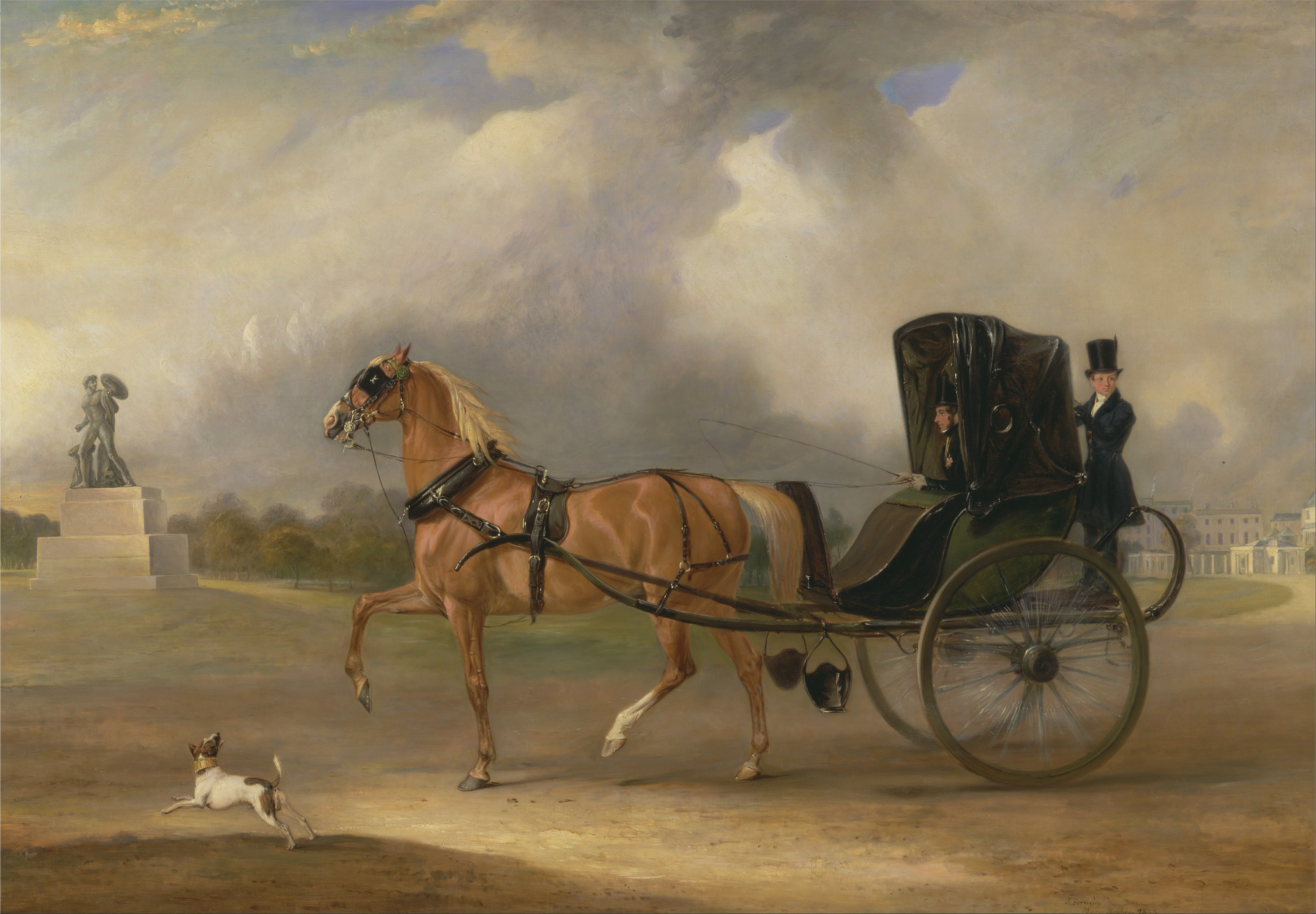 John Ferneley - William Massey-Stanley driving his Cabriolet in Hyde Park - Google Art Project