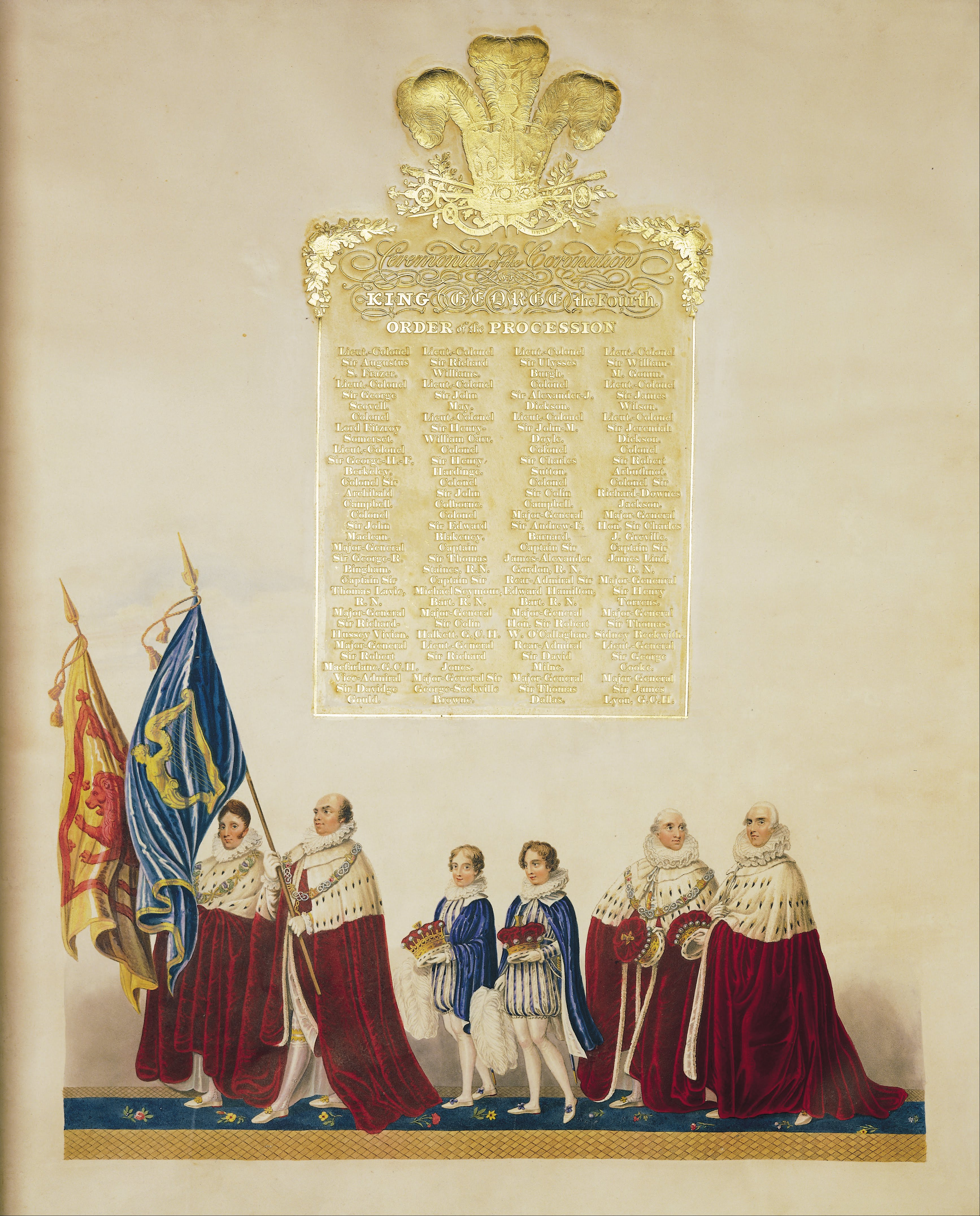 John Whittaker - Ceremonial of the Coronation of King George IV - Google Art Project