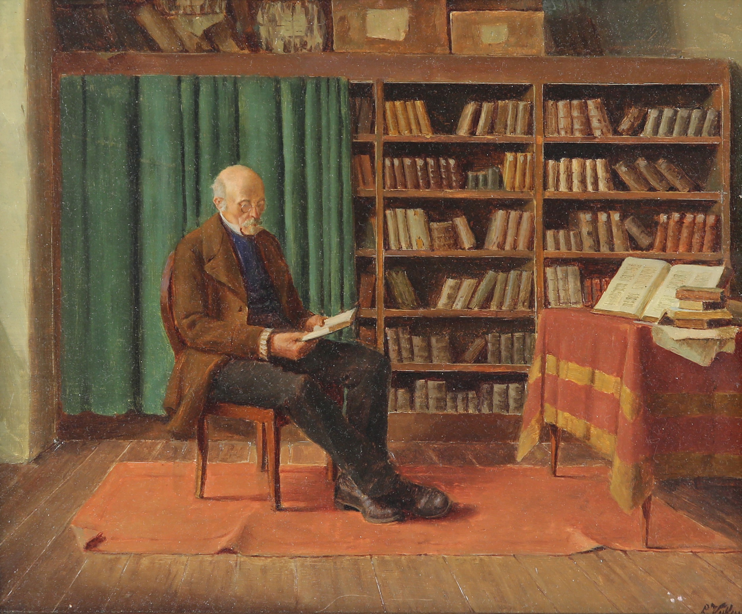 Ludwig Valenta - In the library