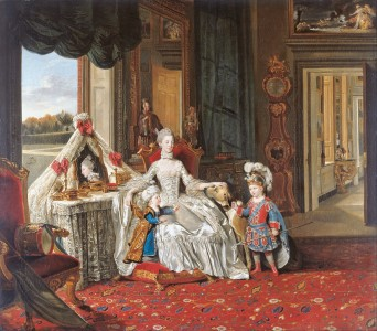 Johan Zoffany - Queen Charlotte (1744-1818) with her Two Eldest Sons - Google Art Project