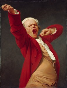 Joseph Ducreux (French - Self-Portrait, Yawning - Google Art Project