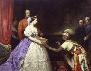 The Secret of England's Greatness' (Queen Victoria presenting a Bible in the Audience Chamber at Windsor) by Thomas Jones Barker