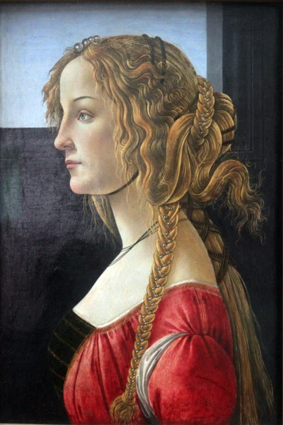 1460-65 Botticelli Profile portrait of young woman anagoria