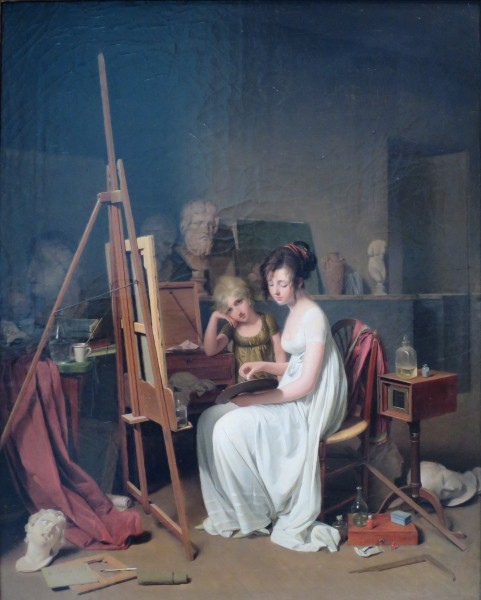 'Artist's Studio' by Louis-Léopold Boilly, 1800, Pushkin Museum
