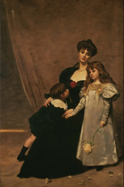 Émile-Auguste Carolus-Duran - Mother and Children (Madame Feydeau and Her Children) - Google Art Project