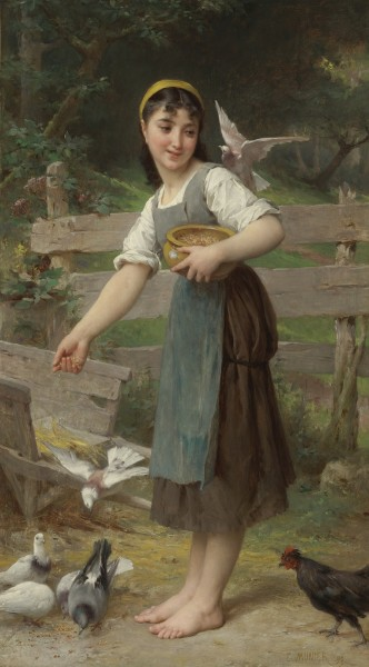 Émile Munier, 1890 - Feeding the Doves