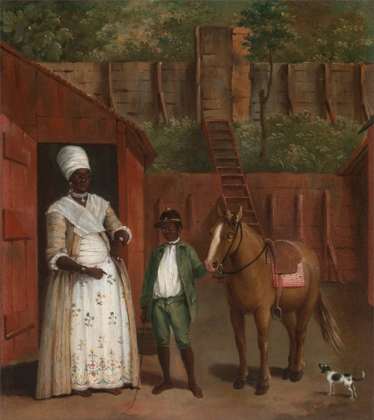 Agostino Brunias - A Mother with her Son and a Pony - Google Art Project