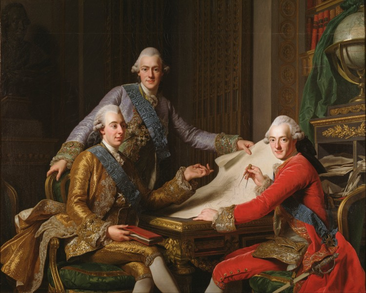 Alexander Roslin - King Gustav III of Sweden and his Brothers - Google Art Project