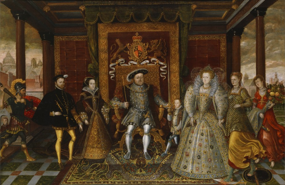 An Allegory of the Tudor Succession- The Family of Henry VIII - Google Art Project