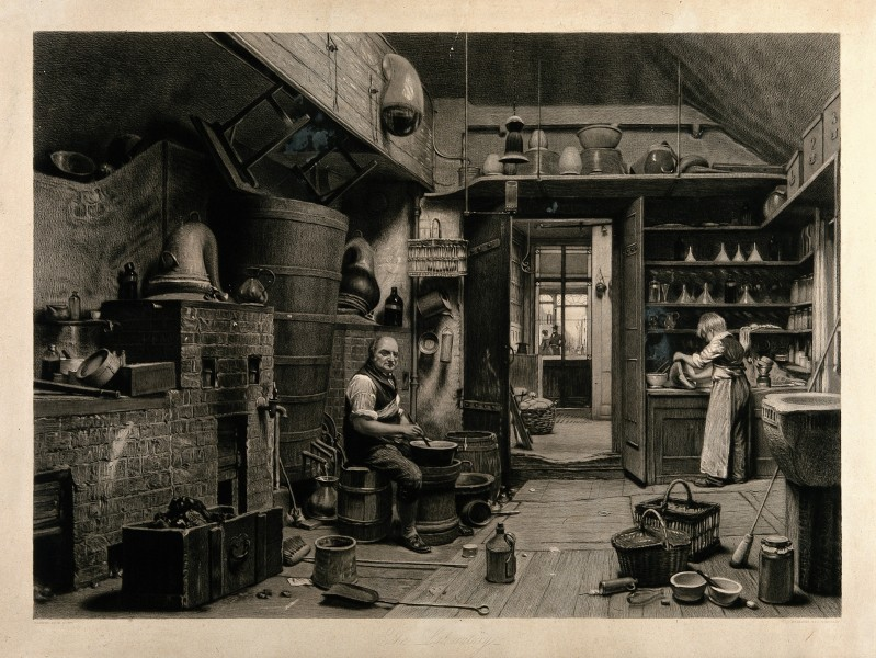 An apothecary, John Simmonds, and his boy apprentice, Willia Wellcome V0010844