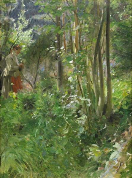 Anders Zorn - Sun in the forest 1907