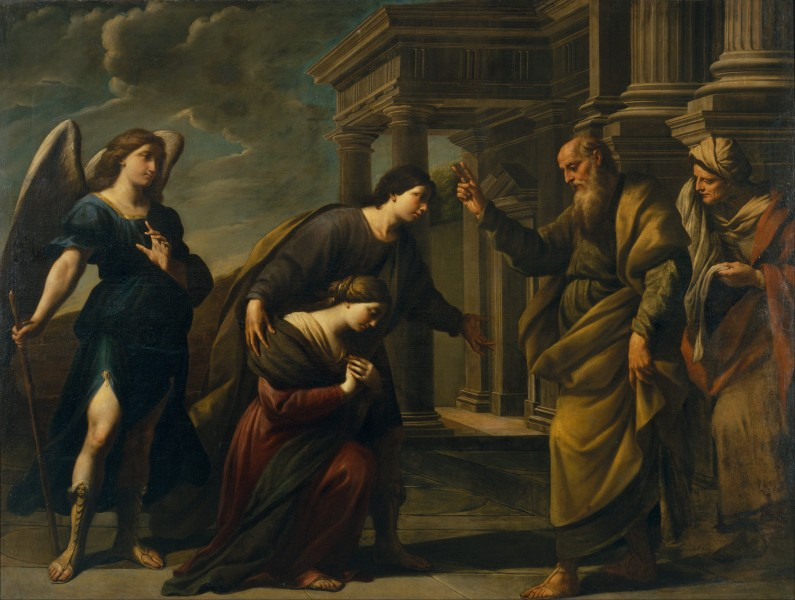Andrea Vaccaro - Raguel's Blessing of her Daughter Sarah before Leaving Ecbatana with Tobias - Google Art Project