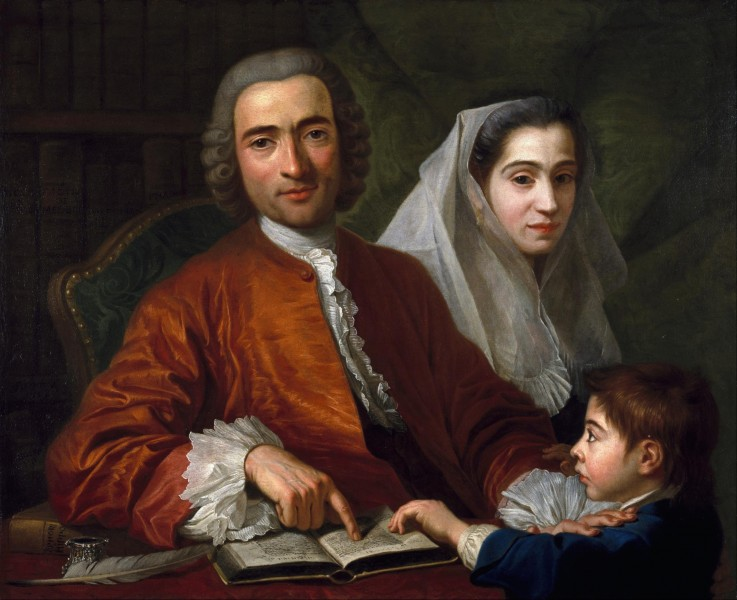 Antoine de Favray - Dr.Savatore Bernard with His Wife and Son - Google Art Project