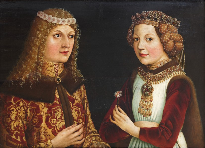 Betrothal Portrait of Ladislaus V of Hungary and Madeleine of France