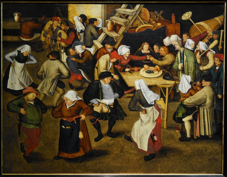 Brueghel the Younger's wedding dance in a barn