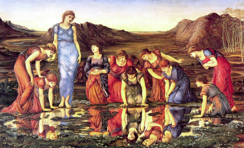 Burne-Jones, Edward - The Mirror of Venus - 1875 - hi res