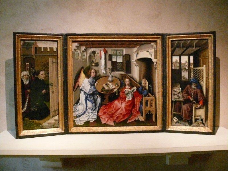 Campin Annunciation triptych 4