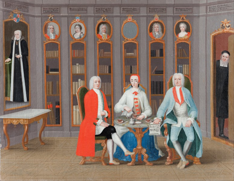 Carl Fredrik Svan - The Stenbock family in their library at Rånäs - Google Art Project