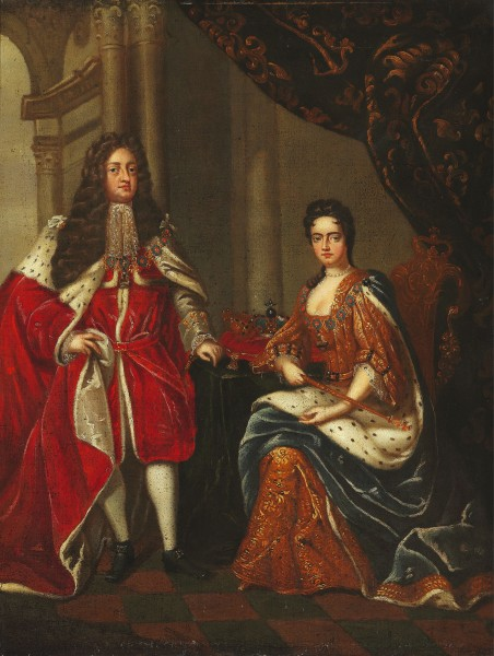 Charles Boit (after) - Portrait of Queen Anne of England and George Prince of Denmark
