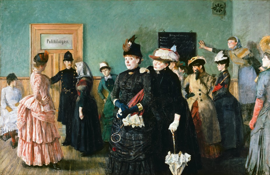 Christian Krohg - Albertine to see the Police Surgeon - Google Art Project