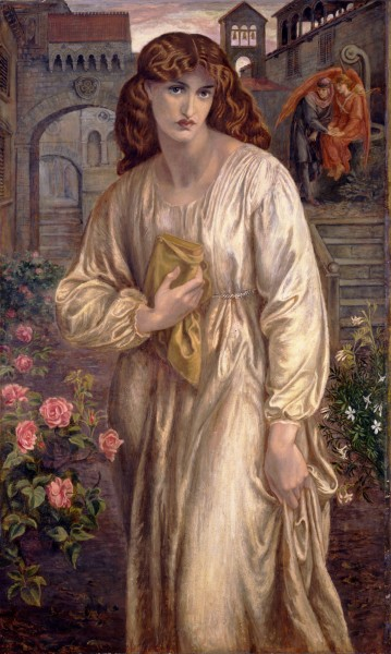 Dante Gabriel Rossetti - Salutation of Beatrice - Google Art Project