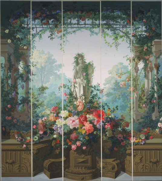Designed by Édouard Muller (called Rosenmuller), French or Swiss - Garden of Armida Wallpaper - Google Art Project