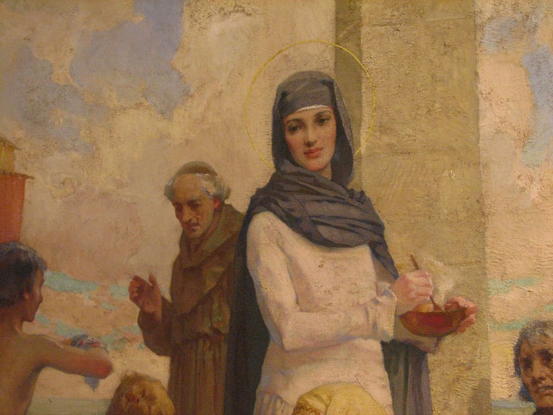 Detail from St. Hilda at Hartlepool by James Clark (Oil Painting)