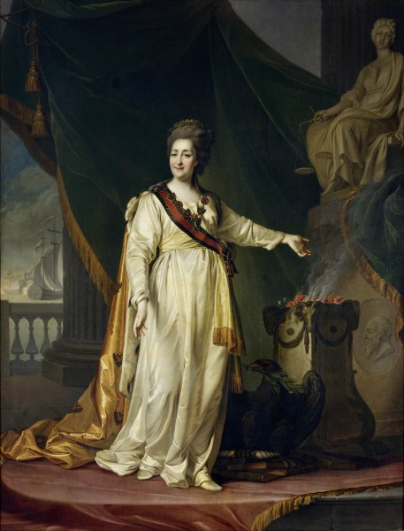 Dmitry Levitsky - Portrait of Catherine II the Legislatress in the Temple of the Goddess of Justice - Google Art Project