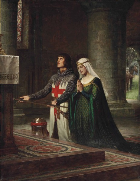 Edmund Blair Leighton - The Dedication (1908)