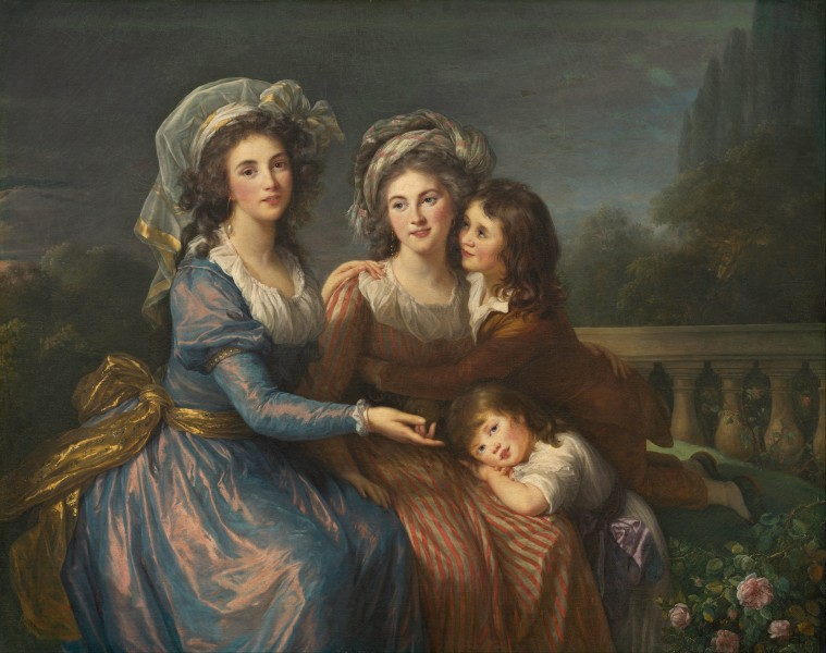 Elisabeth-Louise Vigée Le Brun - The Marquise de Pezay, and the Marquise de Rougé with Her Sons Alexis and Adrien - Google Art Project