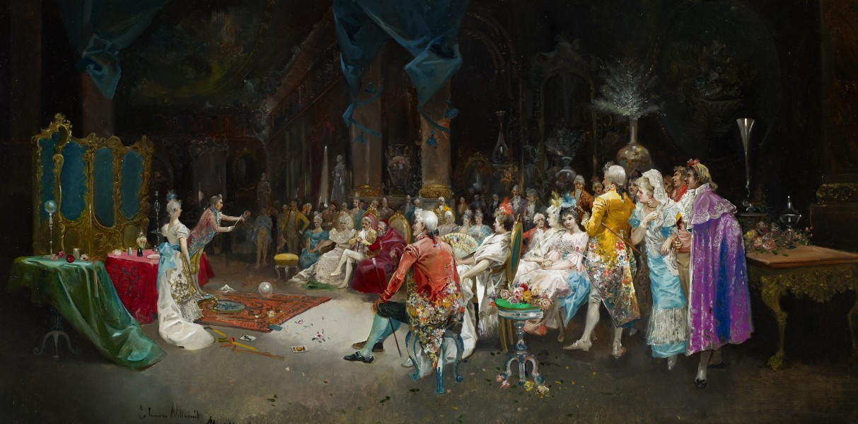 Eugenio Lucas Villaamil The Magician at the Palace