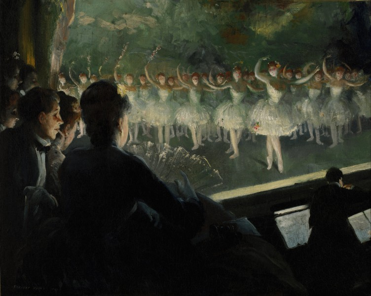 Everett Shinn - The White Ballet - Google Art Project