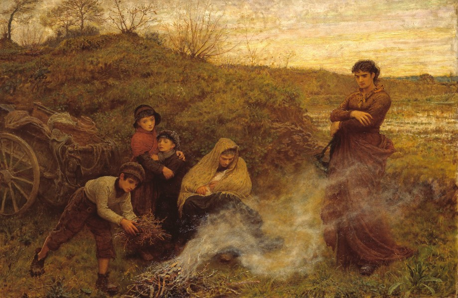 Frederick Walker - The Vagrants - Google Art Project