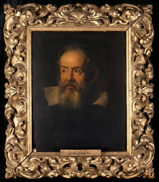 Galileo Galilei (1564-1642). Oil painting after Justus Suste Wellcome V0017867