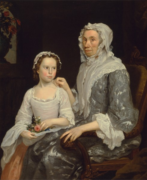 George Beare - Portrait of an Elderly Lady and a Girl - Google Art Project