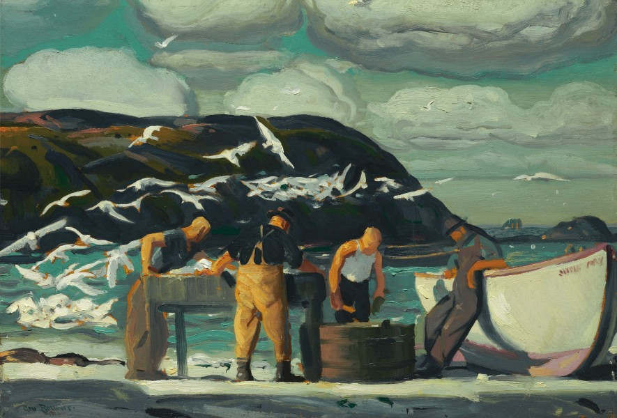 George Bellows - Cleaning Fish (1913)