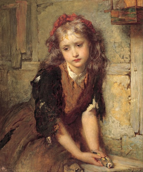 George Elgar Hicks - The dead goldfinch (