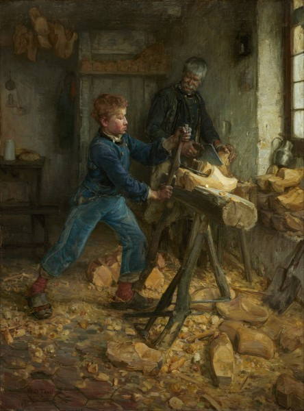 Henry Ossawa Tanner - The Young Sabot Maker - Google Art Project