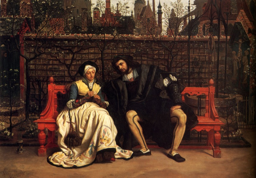 James Tissot - Faust and Marguerite in the Garden
