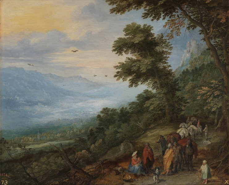 Jan Brueghel (I) - Train of Animals and Gypsies in a Forest