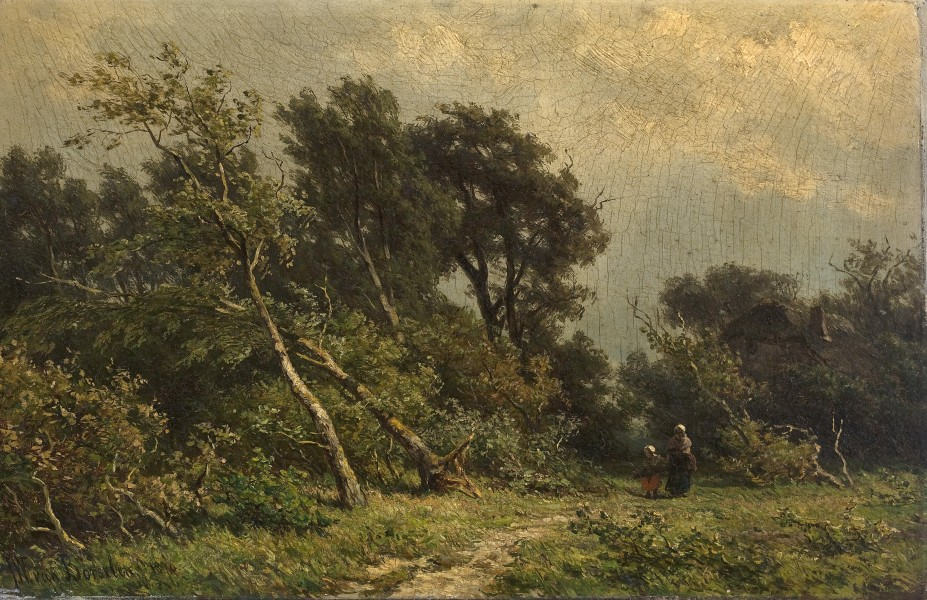 Jan Willem van Borselen - Gathering faggots (1876)
