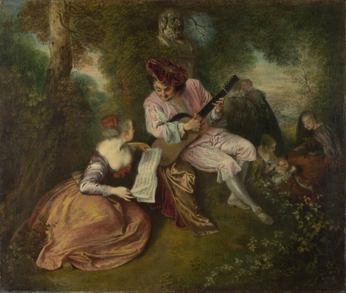 Jean-Antoine Watteau - The Love Song