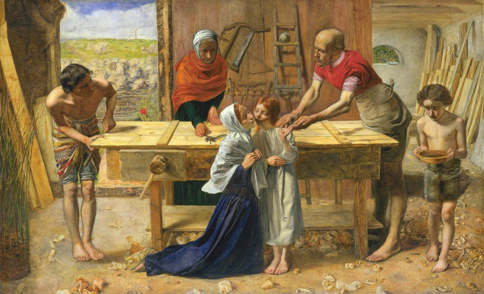 John Everett Millais - Christ in the House of His Parents (`The Carpenter's Shop') - Google Art Project