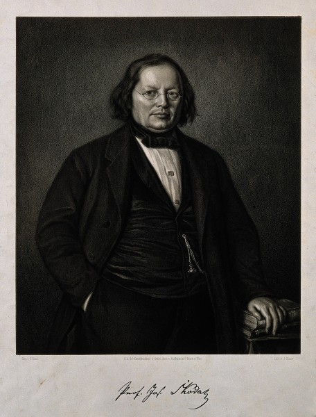 Joseph Skoda. Lithograph by G. Gaul. Wellcome V0005464